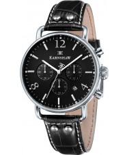 Thomas Earnshaw ES-8001-03 reloj cronógrafo de cuero negro para hombre del investigador