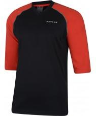 Dare2b Hombres marcados en negro rojo ardiente jersey camiseta