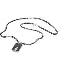 Police 25492PSB-01 Collar para hombre de acero de plata híbrido
