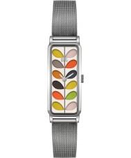 Orla Kiely OK4049 Las señoras se derivan reloj de pulsera de acero de plata
