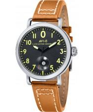 AVI-8 AV-4020-02 reloj de la correa de cuero para hombre de la mostaza Bombardero Lancaster