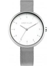 Karen Millen KM135SM Las señoras reloj pulsera de acero de plata