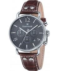 Thomas Earnshaw ES-8001-04 reloj cronógrafo de cuero marrón para hombre del investigador