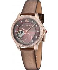 Thomas Earnshaw ES-8029-04 Señora australis reloj correa de cuero marrón satinado