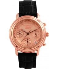 Krug-Baumen 150577DL Principio de diamantes señoras se levantaron correa de reloj de oro