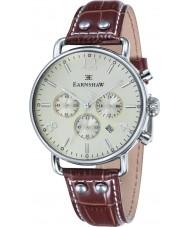 Thomas Earnshaw ES-8001-05 reloj cronógrafo de cuero marrón para hombre del investigador