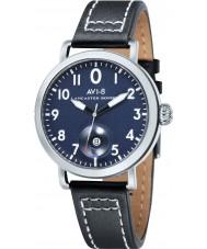 AVI-8 AV-4020-03 reloj de la correa de cuero negro para hombre del bombardero Lancaster