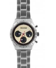 Zadig and Voltaire ZVM103 reloj cronógrafo de acero de plata Maestro