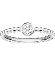 Thomas Sabo D-TR0004-725-14-54 Damas Glam y el alma de ley 925 anillo de diamantes de plata - tamaño o (UE 54)