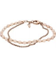 Fossil JA6851791 Señoras forman la pulsera color de rosa de acero de oro