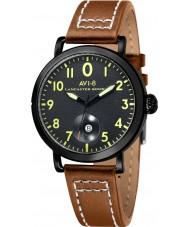 AVI-8 AV-4020-04 reloj de la correa de cuero de color marrón claro para hombre bombardero Lancaster