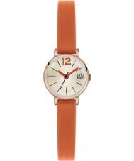 Orla Kiely OK2024 Frankie damas reloj de la correa de cuero de color naranja