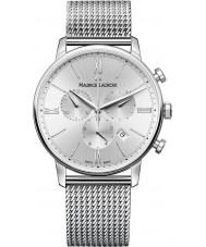 Maurice Lacroix EL1098-SS002-110-1 Mens Eliros reloj cronógrafo de acero de plata