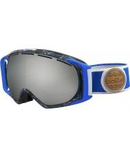 Bolle 21455 La gravedad de la salpicadura azul y gris - negro gafas de esquí de cromo