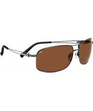 Serengeti Sassari en gris metal brillante polarizado gafas de sol de los conductores