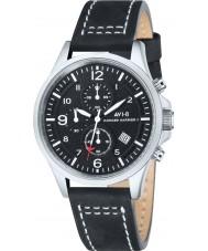 AVI-8 AV-4001-01 Mens Hawker Harrier reloj cronógrafo de la correa de cuero negro ii