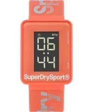 Superdry SYL204C Damas saltan reloj correa de silicona de coral digi