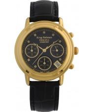 Krug-Baumen 150573DL Las señoras reloj cronógrafo negro principio de diamante