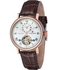 Thomas Earnshaw ES-8047-05 Mens Beaufort reloj correa de cuero marrón de barro