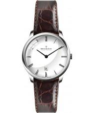 Dreyfuss and Co DGS00135-01 Reloj para hombre de la correa de cuero marrón blanco