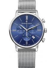 Maurice Lacroix EL1098-SS002-410-1 Mens Eliros reloj cronógrafo de acero de plata