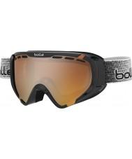 Bolle 21347 Explorador de color negro brillante - gafas de esquí modulador cítricos arma