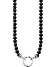 Thomas Sabo KE1102-023-11-M Mens negro collar de cuentas de obsidiana
