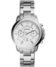 Fossil ES4036 Damas gwynn reloj cronógrafo de plata