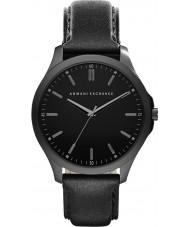 Armani Exchange AX2148 reloj de la correa de cuero negro vestido de los hombres