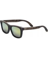 Swole Panda Oscuras gafas de sol Wayfarer de bambú marrón polarizada