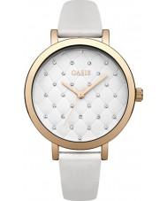 Oasis B1575 reloj de la correa de goma blanca de las señoras