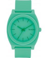 Nixon A119-2288 reloj de la correa de goma verde Tiempo cajero