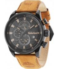 Timberland 14816JLB-02 Mens Henniker reloj correa de piel de naranja ii