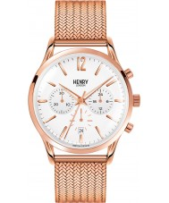 Henry London HL41-CM-0040 blanco para hombre de Richmond subió reloj cronógrafo de oro
